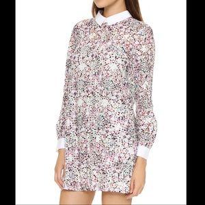 BCBGMAXAZRIA Maris Babydoll Floral Lace Dress